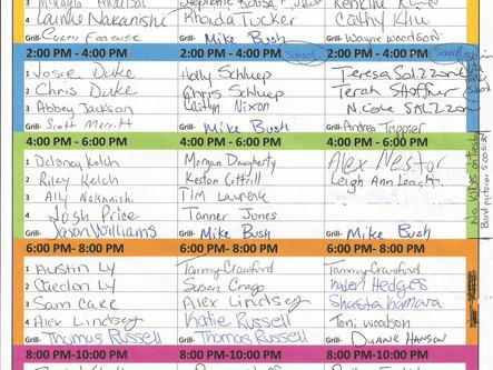 2015 Fair Worker Schedule