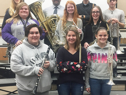 Five LHS Band students selected for OSU Honor Band Festival