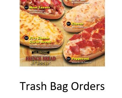 Frozen Food & Trash Bag Pickup Change