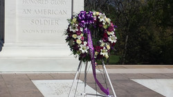 Our Wreath Placed at the Tomb
