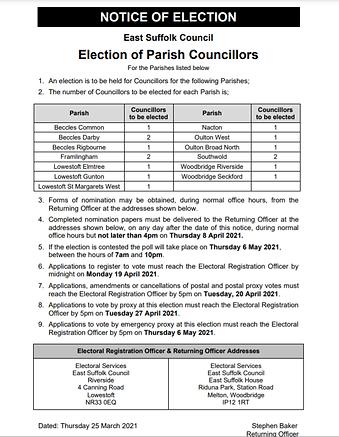 Oulton Broad Parish Council by-election