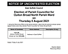 Notice of Uncontested Election