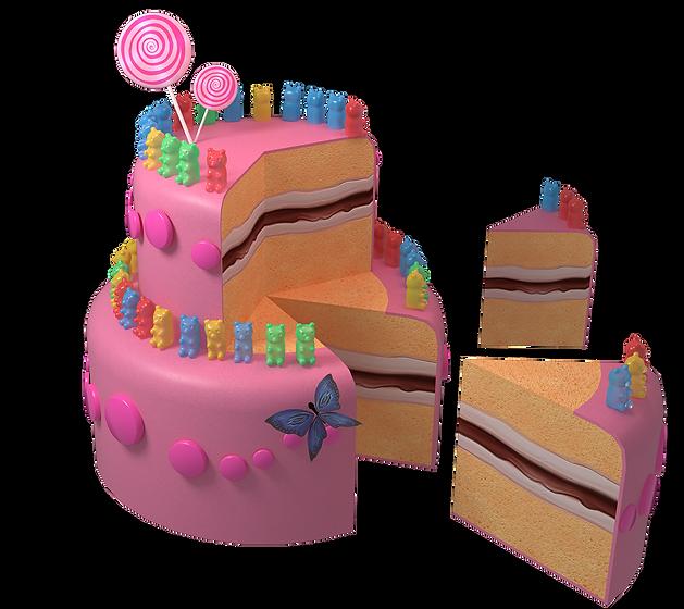 Slice of Pink Cake