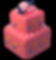 2 Tier Square Cake