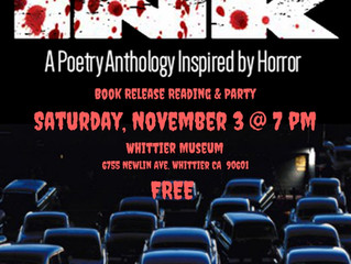 Dark Ink Book Launch & Party at The Whittier Museum on Saturday, November 3rd. @ 7 PM