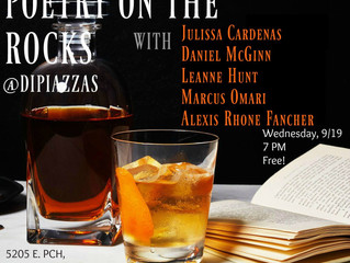 Moon Tide Authors Alexis Rhone Fancher & Daniel McGinn to Read at Poetry on the Rocks Wednesday,
