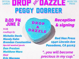 Peggy Dobreer's DROP AND DAZZLE Book Launch is NOT to Miss!