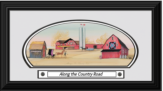 Along the Country Road Framed.png