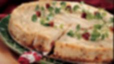 havarti and sun dried tomato cheesecake.