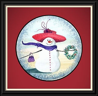 The Red Hat Snow Lady Framed.jpg