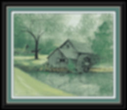 Summer at Mabry Mill Framed.jpg
