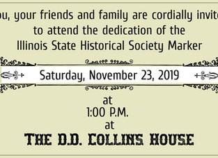 Illinois State Historical Society Marker Dedication~