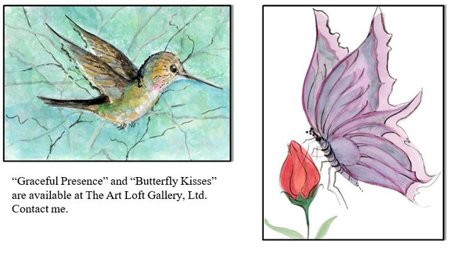 hummingbirds & butterfly kisses