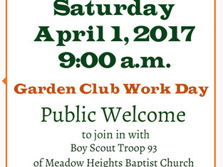 Garden Club Work Day ~