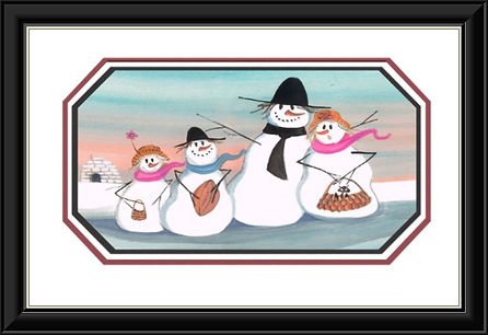 Snowman's Delight Framed..jpg