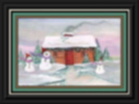 Frosty Family Cabin Framed.jpg