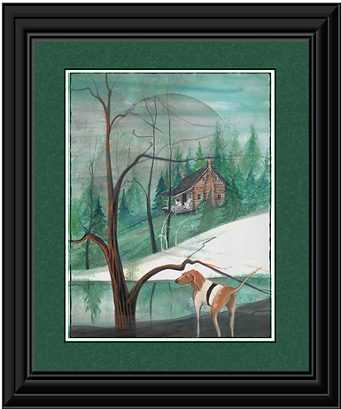 Cabin in the Pines Framed.png
