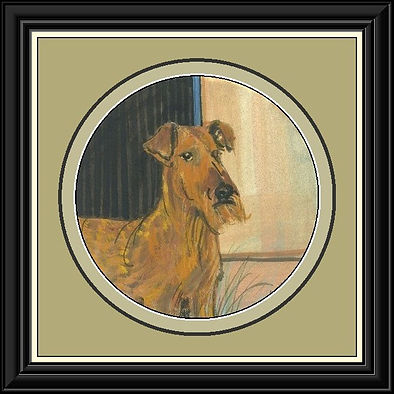 Irish Terrier Original Framed.jpg