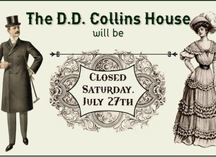 Closed Saturday, July 27th, 2019 ~