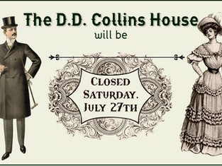 Closed Saturday, July 27th, 2019 ~