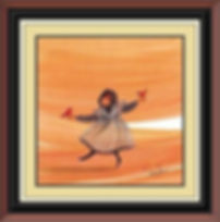 Cardinal Girl Framed.jpg