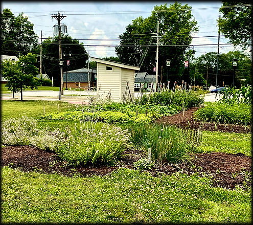D.D. Collins House garden view from W Main Street, Collinsville, IL
