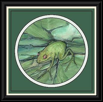 Afloat on a Pond Framed.jpg