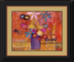 Purple Vase Framed in Black orange).jpg