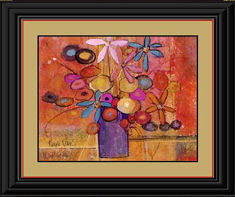 Purple Vase Framed in Black orange).jpg