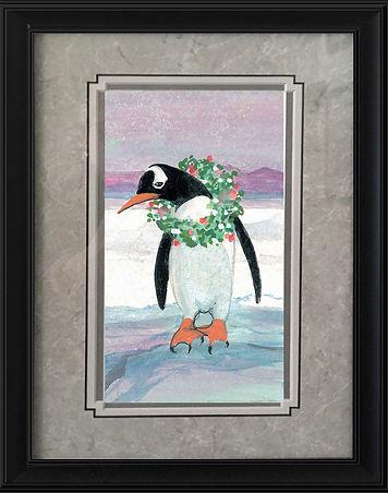 Festive Penguin Framed.jpg