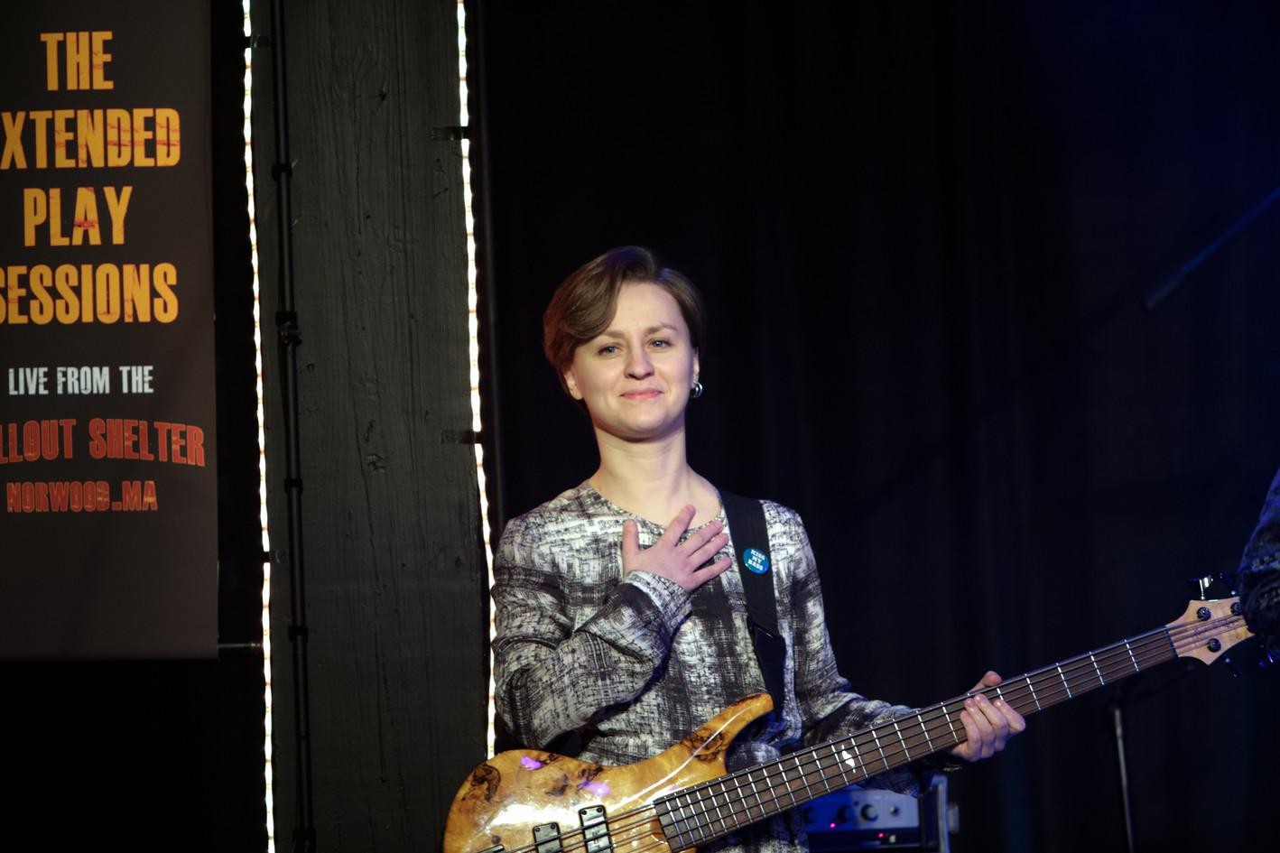 Ksenia Vasileva of the Willie J. Laws Band