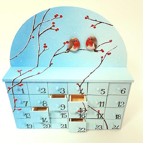 Calendario dell'avvento pettirossi.