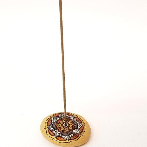 Porta incenso mandala dipinto