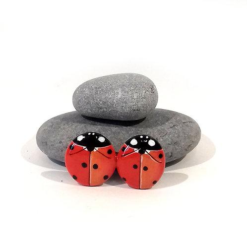 Spilla coccinelle rosse