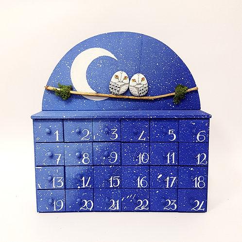 Calendario dell'avvento civette delle nevi