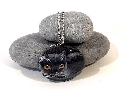 Collana gattino nero