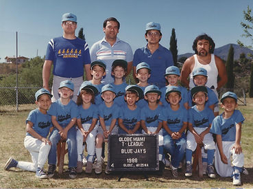 Little League baseball/ t-ball players team of future Land Surveyors