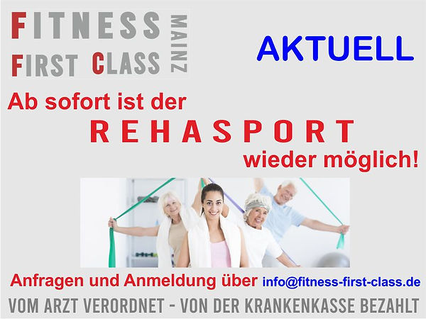 Rehasport in Mainz bei Fitness First Class in Mainz-Weisenau