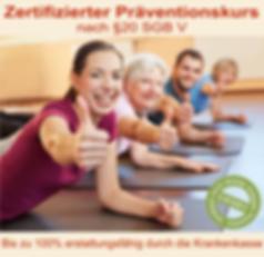 zertifizierter Präventionskurs
