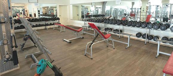 Freihantelbereich bei Fitness First Class in Mainz