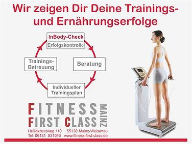 Dein Inbody Checkup bei Fitness First Class in Mainz