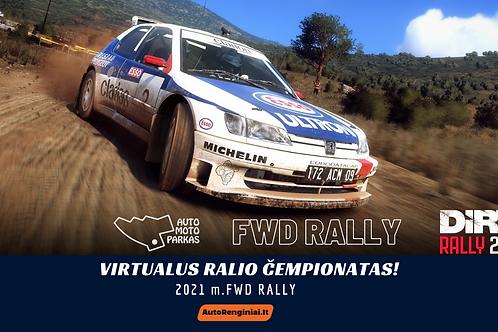 STARTINIS MOKESTIS - FWD Rally - Virtualus ralio čempionatas