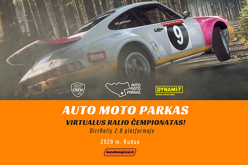 STARTINIS MOKESTIS - Virtualus ralio čempionatas - RUDUO čempionatui
