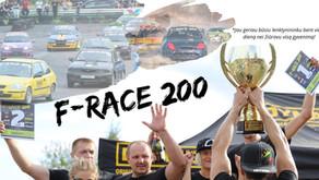 """""""F-Race 200"""" 2020 m. čempionato nuostatai ir renginių datos"""