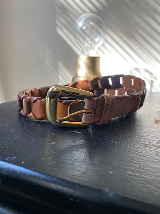 Multicolored Leather Belt