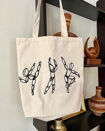 Three Dancing Figures Tote Bag