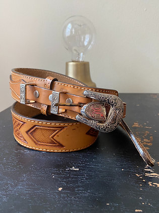 Genuine Leather Vintage Western Belt