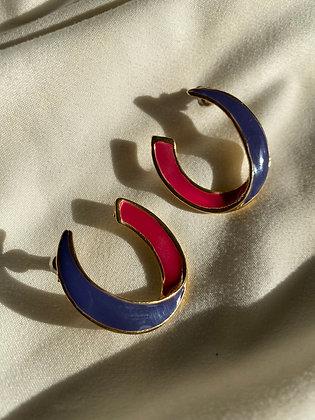 90s Pink & Purple Earrings