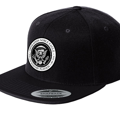 BLK Snapback NASAMS Flat Bill Hat w/ PATCH