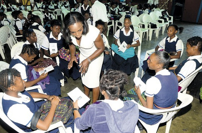UNESCO ambassador VCB continues to inspire 'young girls'.....